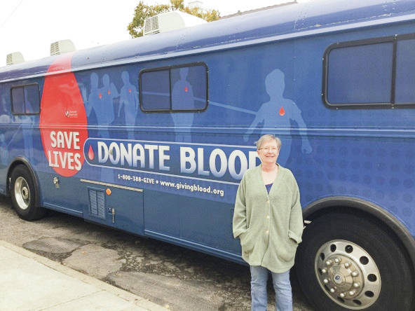 Provided photo Nancy Brogden of Piqua not only organized the Nov. 4 blood drive at Greene Street United Methodist Church, she made her 100th lifetime donation.