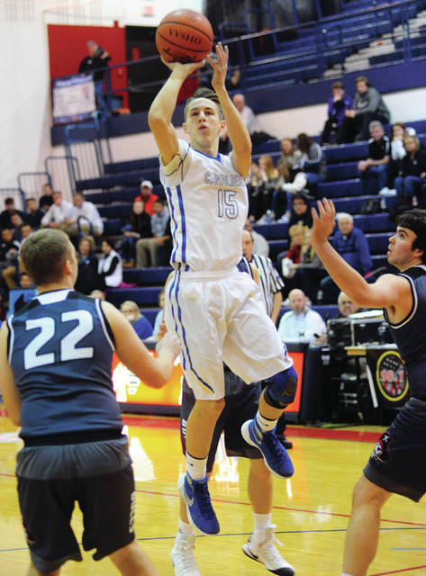 Mike Ullery/Call File Photo Lehman Catholic's Preston Rodgers shoots in last year's B.I.G. Holiday Classic