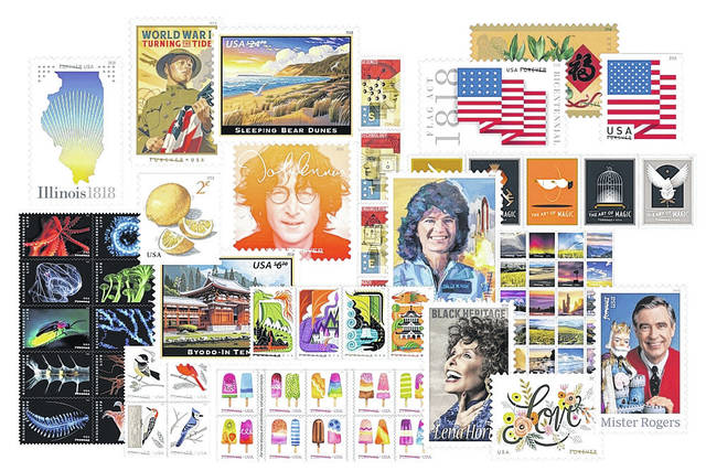 Astronaut Sally Ride, musician John Lennon, singer Lena Horne, and famed childrens' television host Fred Rogers are among the personalities and themes to be featured on USPS Forever stamps in 2018.