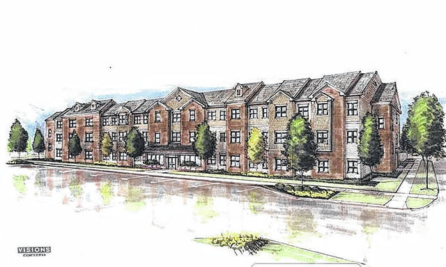 Courtesy photo A rendering of the proposed apartment complex that would be located on the 400 block of Wood Street.