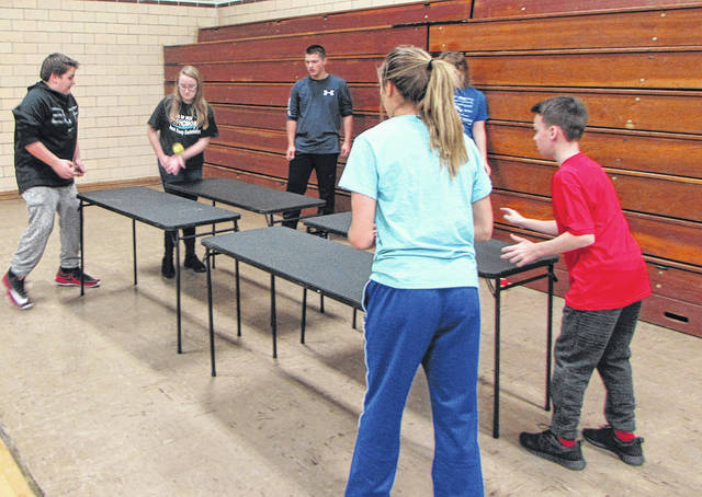 """Impact Teens, a teen youth group from the Bradford Church of the Brethren, rang in the new year with a """"Lock-In."""" They stayed up all night on New Year's Eve, enjoying food, games and fellowship."""