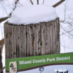 A snow-covered tour of the Miami County Park District's Greenville Falls Scenic Preserve