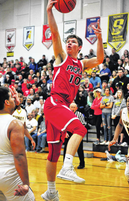 Mike Ullery | Daily Call Piqua's Hayden Schrubb sinks a layup.
