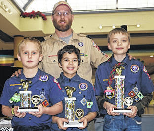 Provided photo The top three overall winners were, left to right, Owen Quinter, Gavin Short and Alex Giguere.