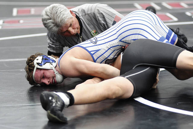 Ben Robinson/Call File Photo Graham Shore and Miami East will be looking to rack up pins at the Covington D-III sectional Friday and Saturday.