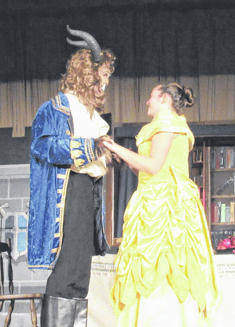 "<style type=""text/css""></style> <p style=""margin-bottom: 0in;"">Provided photo <p style=""margin-bottom: 0in;"">Lehman Catholic High School will perform ""Beauty and the Beast"" March 22-24. Playing the lead role of Belle is junior Sarah Gibson of Tipp City. The Beast is played by junior Conor O'Leary of Sidney."