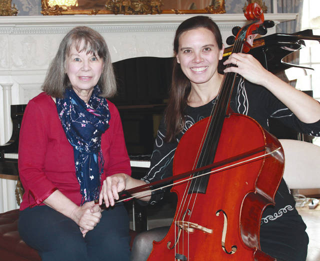 Provided photo The 2018 tea will begin with a presentation by cellist Tara Mar, right, and pianist Stephanie Ours in the Hayner Ballroom.