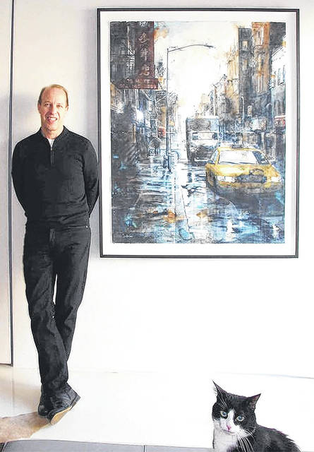 Provided photo Known for his large-scale urban watercolors, artist Tim Saternow will lead a four-day workshop hosted by the Piqua Arts Council from 9 a.m. to 4 p.m. March 27-30 at Apple Tree Gallery.