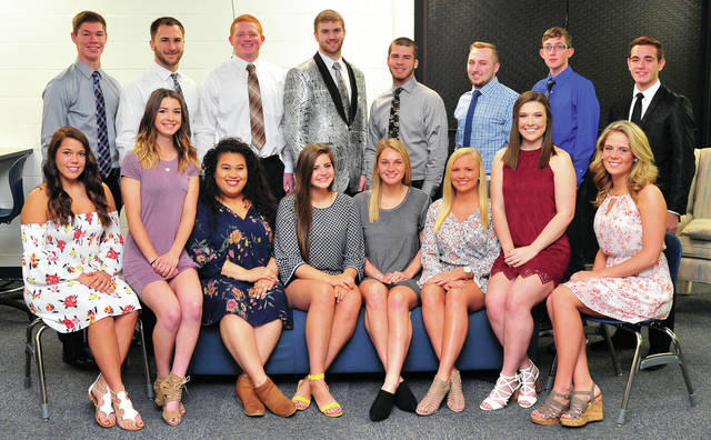 Mike Ullery | Daily Call The Piqua High School Prom Court for 2018 has been selected. They include, seated left to right, Morgan Ford, Lily Stewart, Maddie Mitchell, Darby Bubp, Kenzie Ellerman, Mara Lawrence, Mya DAvis, and Meredith Karn. Standing, left to right, Hayden Schrubb, Ben Schmiesing, Derek Hite, Brent Lemmon, Austin Davis, Holden Yount, Preston Schaeffer, and Ashtyn Wilson. Piqua's prom will be held May 5, at A Learning Place.