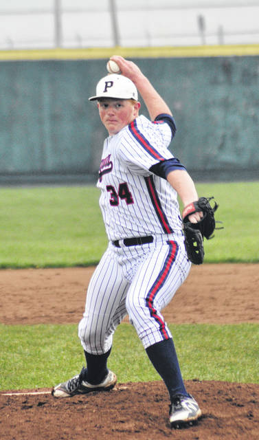 Rob Kiser/Call Photo Piqua pitcher Derek Hite pitched a complete game against Greenville Tuesday in a 10-6 victory.