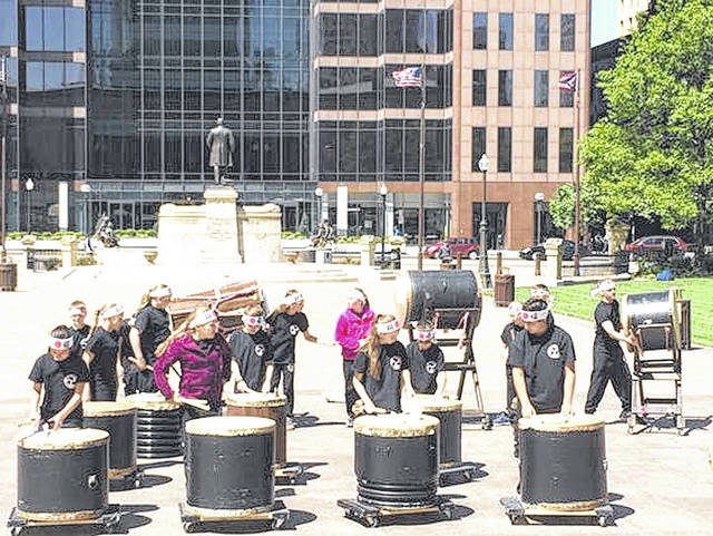 Provided photo The Kuroi Taka Taiko drumming group, featuring junior high and high school students from Mississinawa Valley, will perform at Taste of the Arts on May 11 in downtown Piqua.