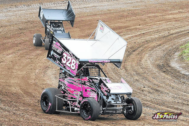 Photo Provided By J & T Photos Piqua driver Becca Steifel finished seventh in the featured at Waynesfield Raceway Park over the weekend.