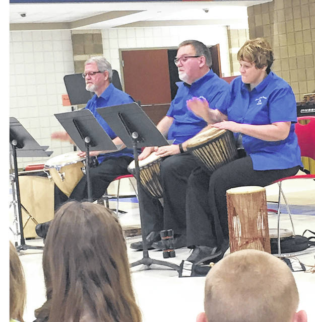 Provided photo Third graders at Washington Primary were visited recently by the Lima Symphony Orchestra Percussion Section. The students enjoyed hearing various instruments played in diverse musical styles. The performance was provided by the Piqua Arts Council.
