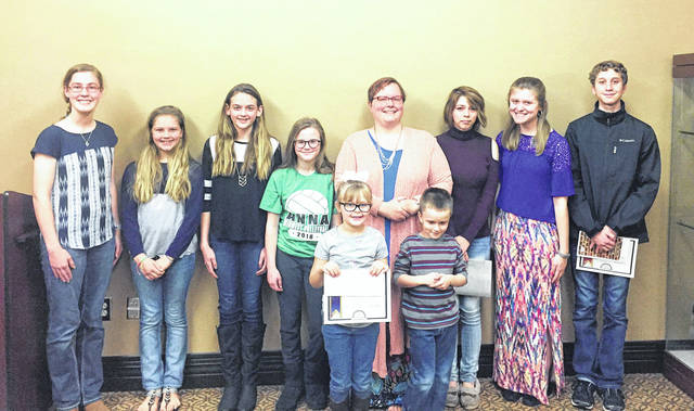Provided photo The Piqua Public Library celebrates all of its winning poets at their fifth annual Youth Poetry Awards presentation on April 24.