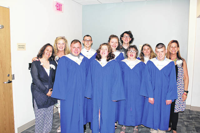 Provided photo Seven area students graduated from the Upper Valley Project SEARCH program at Upper Valley Medical Center (UVMC) on May 11.