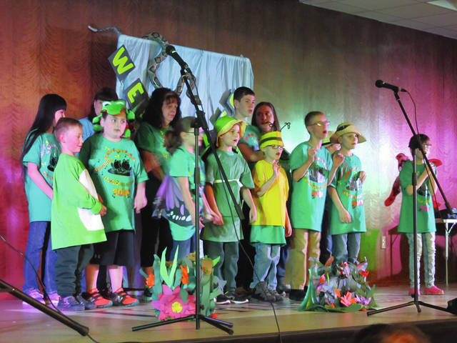 Provided photo Nicholas School students recently participated in a spring concert. The concert was held at the Upper Valley Career Center.