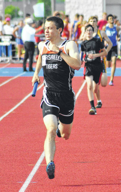 Rob Kiser/Call Photo Versailles' Joe Spitzer will be looking to finish high on the podium at the boys D-II state track meet Saturday.