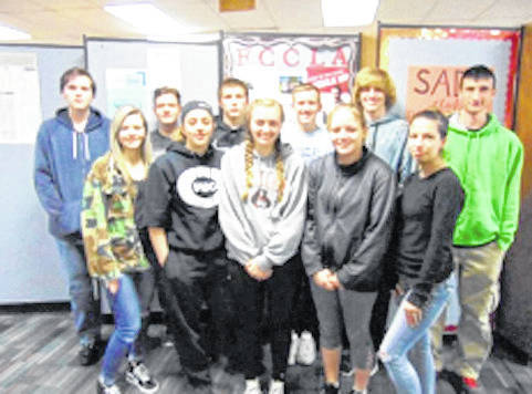 Provided photo Back row, left to right: Caleb Roetter-Ditty, Devin Williams, Dalton Weer, Tyler Owens, Joshua Latimer, Dylan Lucas; front row, left to right: Sarah Remley, Morgan Kimmel, Madison Jones, Madison Hite, Madison Kearns.