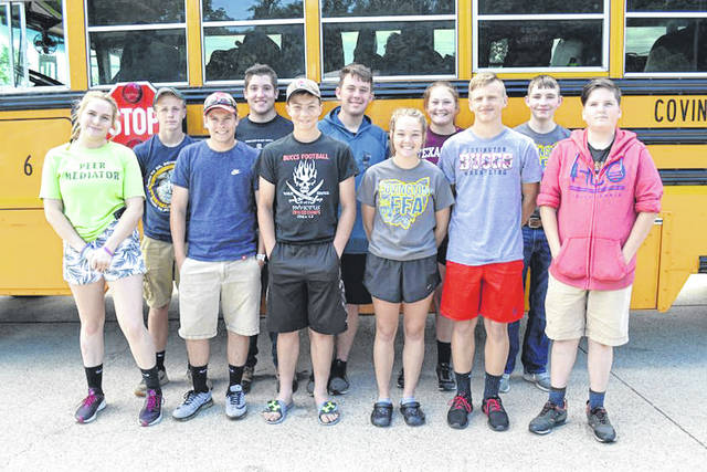 Provided photo Several Miami County FFA members attended the 2018 Ohio FFA Camp. Attending from Covington-UVCC FFA were Randy Anthony, Hunter Evans, Tori Quintor, David Robinson, Deacon Shields, and Bethany Weldy. Attending from Miami East-MVCTC FFA were Jeffrey Blackford and Justin Hawkins. Attending from Milton Union-MVCTC FFA were Justin Brown, Webb Kress, and Madison Pennington.