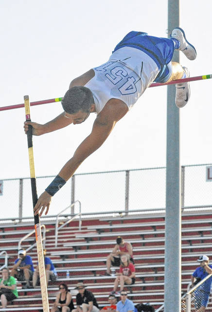 Josh Brown | Troy Daily News file photo Miami East's Blaine Brokschmidt, shown here competing at the Division II regional track and field meet, competed at the New Balanace Nationals earlier this summer.