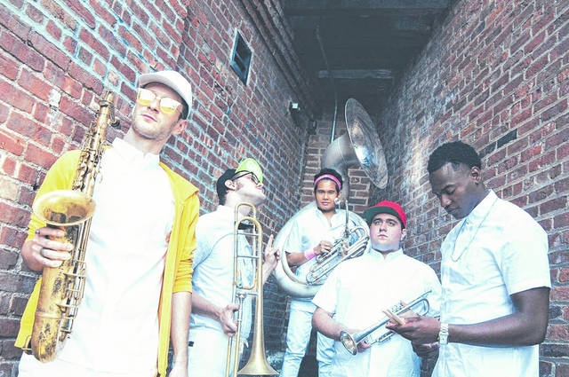 Provided photo The 21st Annual Holiday Evening, coming up Nov. 28, at Edison State Community College, will feature the five-member brass band, Lucky Chops.