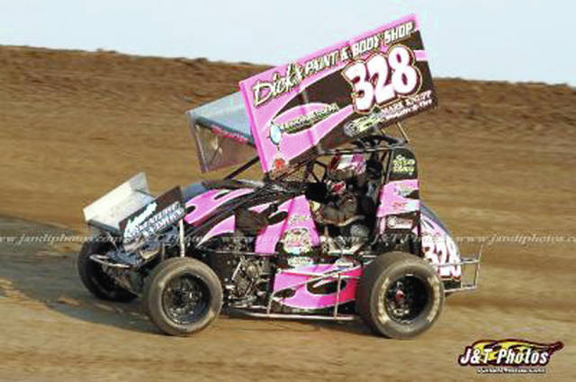 Photo Provided by J&T Photos Piqua driver Becca Stiefel had a good week recently at Waynesfield Raceway Park, recording two top-five feature finishes.