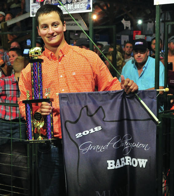 Bryan Miller won 2018 Grand Champion Barrow on Tuesday.