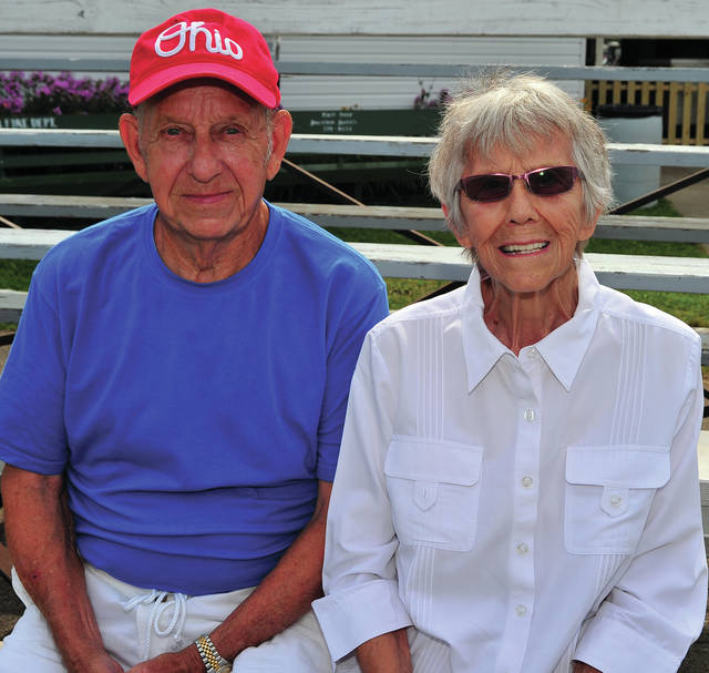 Mike Ullery | AIM Media Midwest Harold and Jean Melvin of Troy are celebrating 68 years of marriage during the 2018 Miami County Fair.