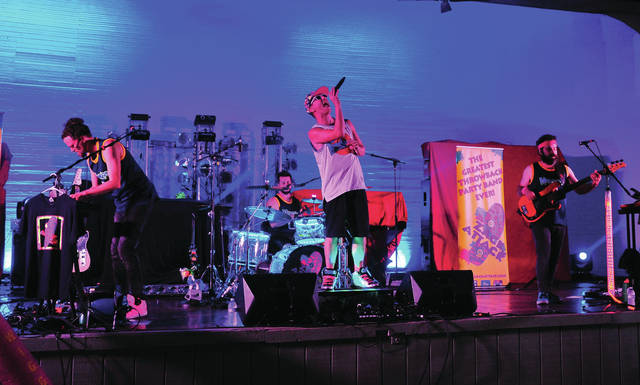 Mike Ullery | Daily Call Zack Attack kicks off the final Rock Piqua concert of the 2018 season on Saturday. Due to the threat of storms the concert was, once again, moved to Hance Pavilion at Fountain Park.