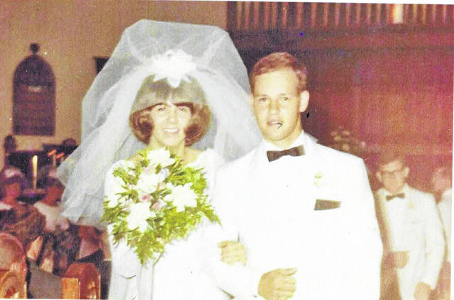 Provided photo Keith and Linda (Martin) Foster were married July 6, 1968, at the Piqua Baptist Church by the Rev. Fisher.