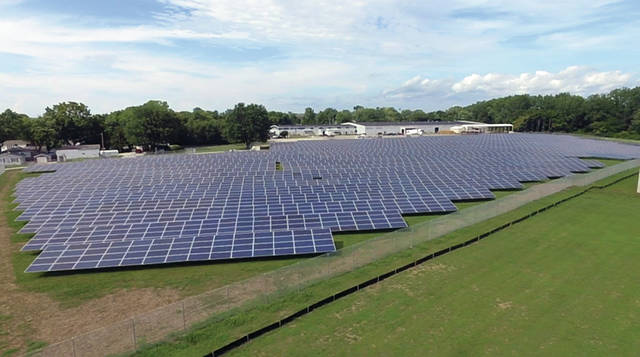 Mike Ullery   Daily Call A solar field located on Staunton Street near Garnsey Street contains nearly 7,700 solar panels.