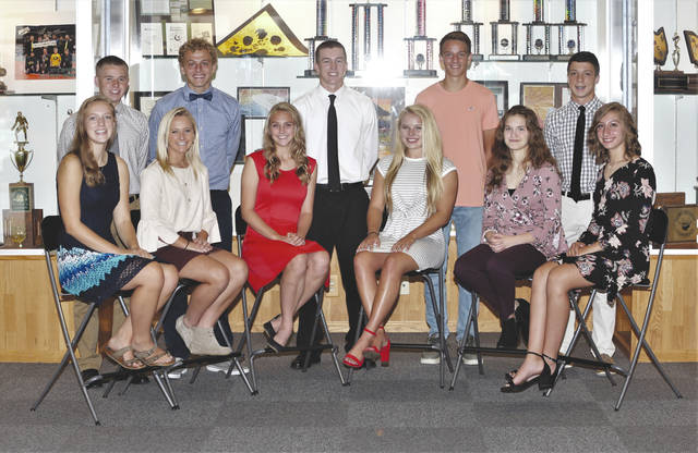 "Lee Woolery | Troy Daily News Troy Christian High School has named its Homecoming court candidates for 2018. They include, front row, from left: Abby Baker (12), Riley Spoltman (12), Rachel Plummer (12), Gracie Glaser (11), Hannah Schaffnit (10), and Mackenzie Misirian (9). Back row, Jake Ronicker (12), Grant Conklin (12), Izaak Frantom (11), Garrison Spatz (10) and Jonathan Haddad (9). Not pictured is Nick Baker (12). The Homecoming game will be Friday at 7 p.m. at the football team takes on Ponitz Career Technology Center. The Homecoming court parade and announcement of the king and queen will take place at halftime. The Homecoming dance, themed ""Light Up The Night!"" will from 8-10:30 p.m. at the Signature Lounge, 845 W. Market St., Troy."