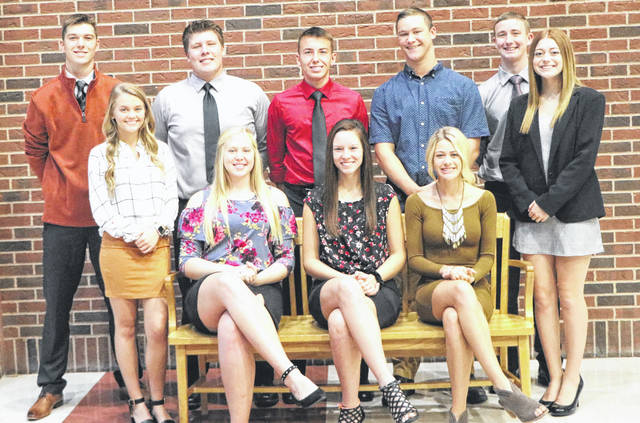 "Provided photo The Homecoming Court at Bradford High School includes, front row, left to right: Macie Reck, Bianca Keener, Elisa Martinez, Karmen Knepp and Amy Roberts; back fow, left to right: Larkin Painter, Jarrett Boggs, Jackson Moore, Josiah Brewer and Joe Roth. The homecoming king and queen will be crowned before the game on Friday, Oct. 5. With a theme of ""Pumpkin Spice and Everything Nice,"" the homecoming dance will take place from 7:30-10:30 p.m. Saturday, Oct. 6, at the high school."