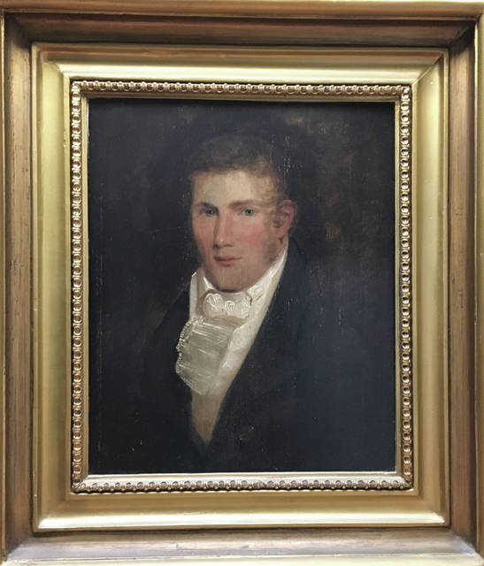 Provided photo An oil painting of William Robinson Barrington — a Piqua mayor in the 1840s and the owner, editor, and publisher of the first Piqua newspaper — will be displayed at the Piqua Public Library.