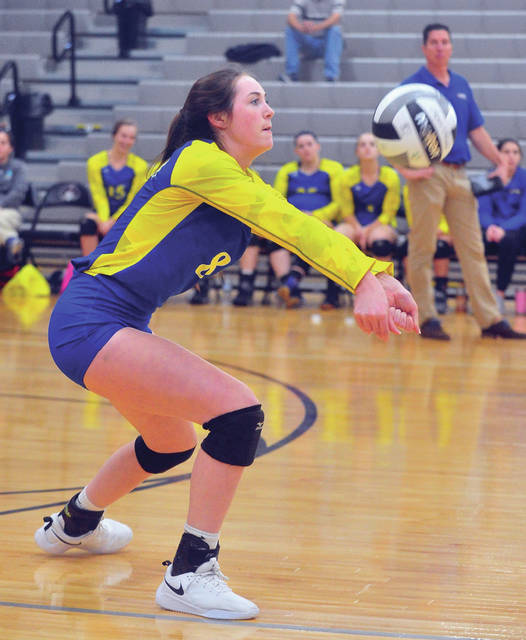Lehman Catholic's Olivia Lucia passes the ball against Yellow Springs Wednesday.