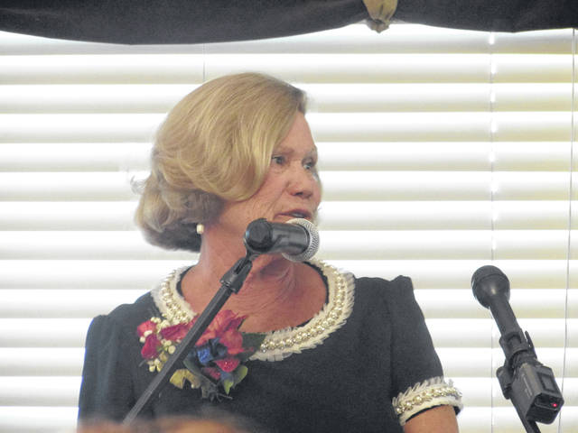 Sam Wildow | AIM Media Connie Strehle, Ph.D., of Piqua, who retired this year after 44 years in education, was honored as a 2018 Woman of Excellence on Thursday.