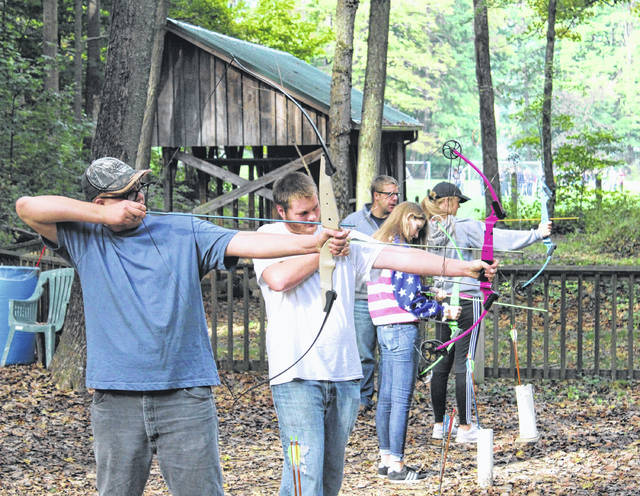Provided photo Freshmen members of the Bradford FFA participated in numerous activities including archery while at Ohio FFA Camp Muskingum in Carrollton recently.