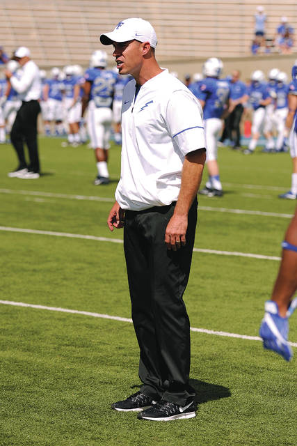 Photo Courtesy of the United States Air Force Academy Covington High School graduate Matt Weikert is the outside linebackers coach for the Air Force Academy football team.