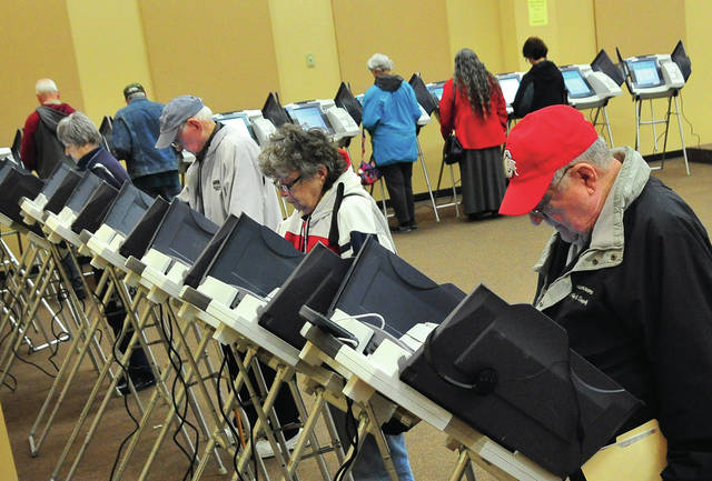 A steady stream of voters kept poll workers busy at A Larning Place on Tuesday