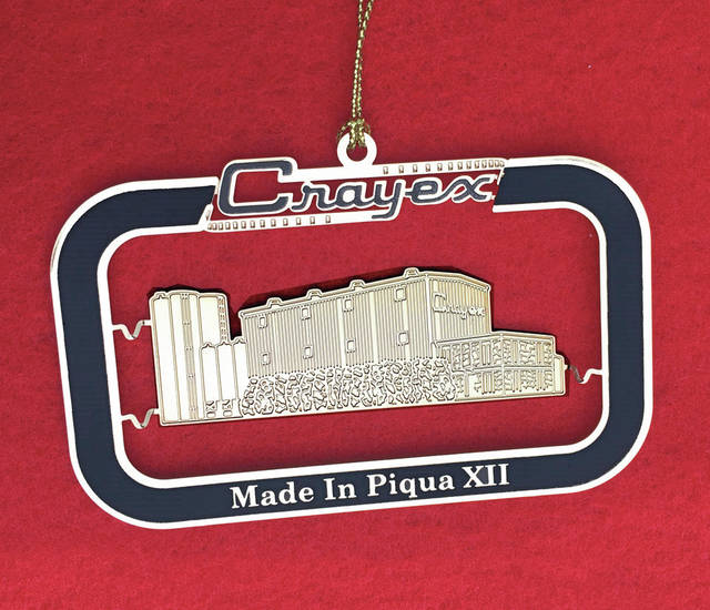 "Provided photo This Crayex Corporation ornament is the latest in series of collectible ""Made in Piqua"" ornaments. The cost is $12."