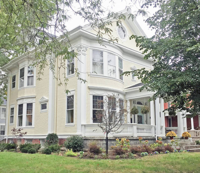 Provided photo Built in 1902 for Charity Ellan Leonard, and currently owned by Paul and Jennifer Herrmann, this 3,300-square-foot Greek Revival home at 600 N. Downing St., Piqua, will be part of the second annual Holiday Home Tour on Dec. 8.