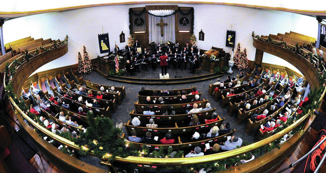 Mike Ullery | Daily Call The Piqua Civic Band performs a Christmas Concert at the Westminster Presbyterian Church in Piqua on Sunday.