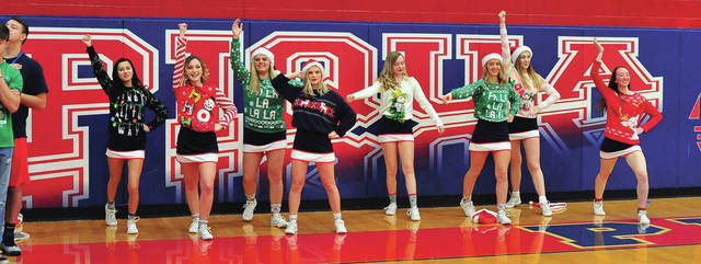"Mike Ullery | Daily Call There was plenty of Christmas ""cheer"" on the floor at Garbry Gym on Tuesday"
