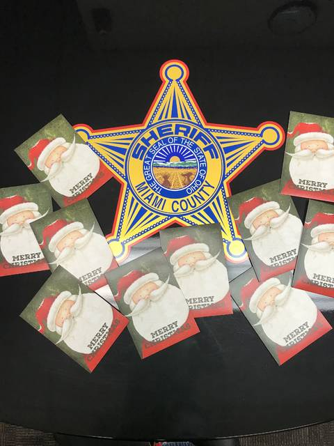 Miami County Sheriff's Office received 10 $20 gift cards from an anonymous donor to pass out to those in need.