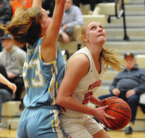 Versailles girls play 'four' quarters in win over Lima Bath