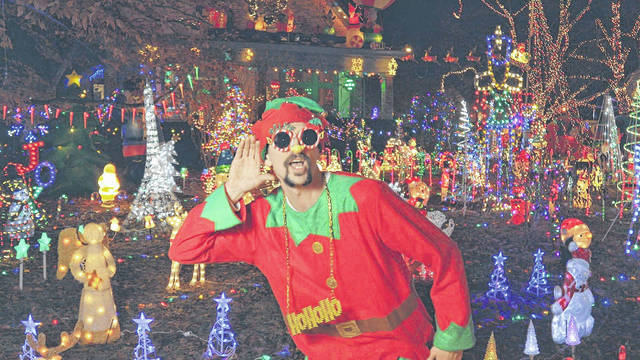 "Sean LeMaster, aka Hanksta, raps on his new Christmas video, ""Hot Cocoa."""