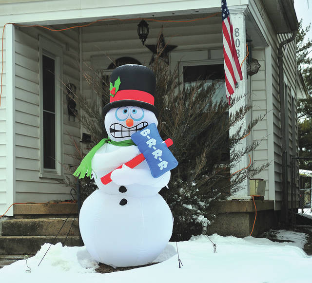 Mike Ullery | Miami Valley Today This shivering Frosty the Snowman seems to have nailed the prediction for our weather forecast in coming days!