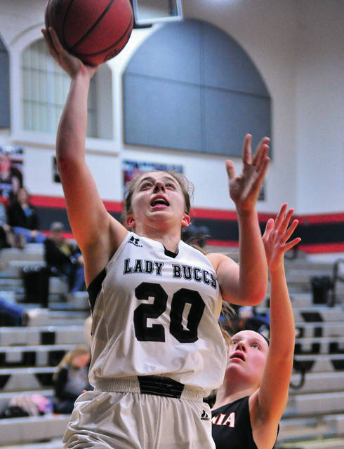 Covington's Morgan Kimmel scores on a layup Monday night.
