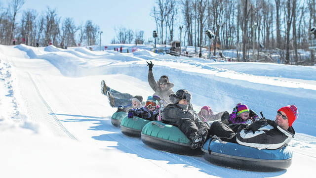 Photo provided Tubing at Mad River is a popular winter-time event in this area of Ohio.