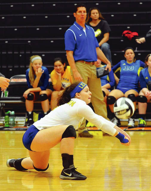 Mike Ullery|Call File Photo Greg Snipes won three state titles and 492 matches as Lehman Catholic volleyball catch.